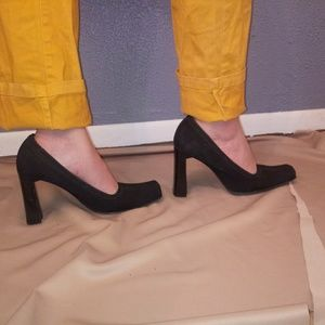 "Prada 40/10 Textured Satin Square 4.1/4"" Heels"